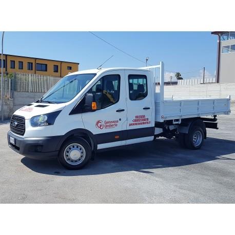 Transit con Cassone, Doppia Cabina 7 Posti - Patente B